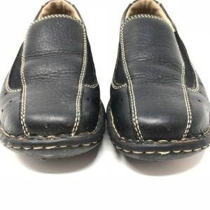 Born Shoes - Born Black Leather Comfort Loafers Flats (267)